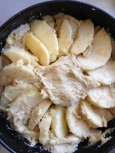 Trying to make it pretty apple cake