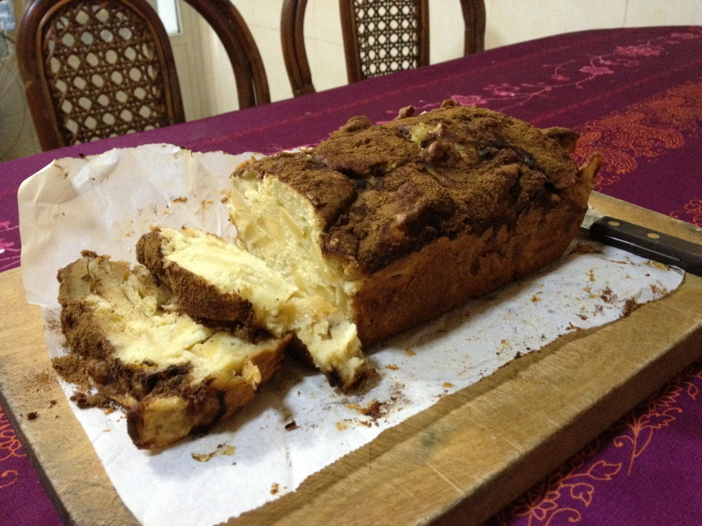 Apple cake baked in Phnom Penh