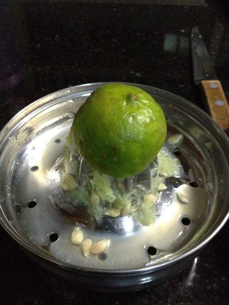 the laborious part of making lime juice