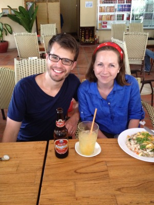 Jonathan and Emily in Cambodia